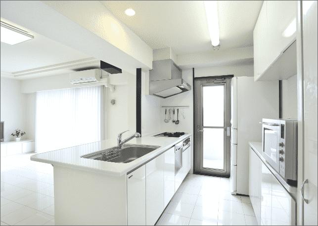 白を基調に居心地の良い空間を表現